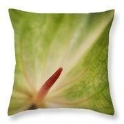 Anthurium Macro Throw Pillow