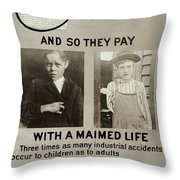 Anti-child Labor Poster Throw Pillow