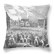 Anti-german Riot, 1851 Throw Pillow