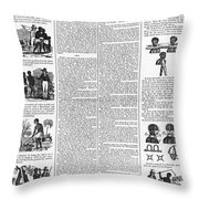 Anti-slavery Broadside Throw Pillow by Granger