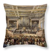 Anti-slavery Convention Throw Pillow by Granger