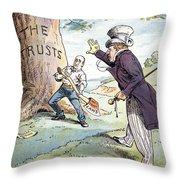 Anti-trust Cartoon, 1904 Throw Pillow