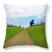 Antietam Battle Of Bloody Lane Throw Pillow