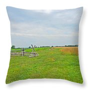 Antietam Battle Of The Cornfield Throw Pillow