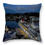 Antigua Dusk Throw Pillow