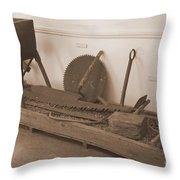 Antiquated Plantation Tools - 1 Throw Pillow