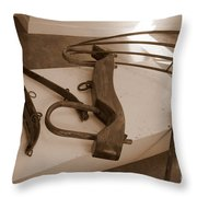 Antiquated Plantation Tools - 2 Throw Pillow