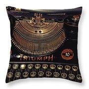 Antiquated Typewriter Throw Pillow