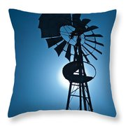 Antique Aermotor Windmill Throw Pillow
