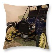 Antique Automobile With Yellow Spoke Wheels Throw Pillow
