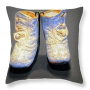Antique Baby Shoes Throw Pillow
