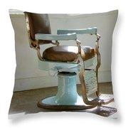 Antique Barber Chair Throw Pillow