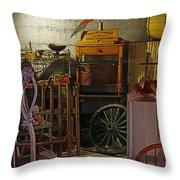Antique Basement Throw Pillow
