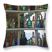 Antique Bottle Collection  Throw Pillow
