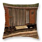 Antique Boxcar Throw Pillow