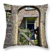 Antique Brick Archway Throw Pillow