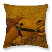 Antique Carousel Appaloosa Horse Throw Pillow