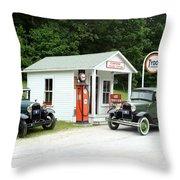 Antique Cars Throw Pillow