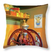 Antique Coffee Mill Throw Pillow