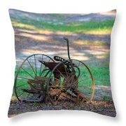 Antique Farm Equipment Throw Pillow