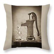 Antique Hand Water Pump Throw Pillow