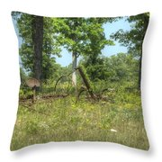Antique Hayrake 1 Throw Pillow