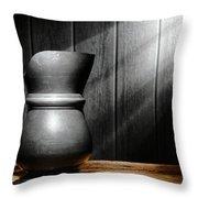 Antique Pewter Pitcher Throw Pillow