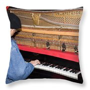 Antique Playtone Piano Throw Pillow