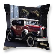 Antique Red Convertible Throw Pillow
