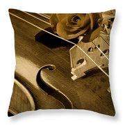 Antique Violin Viola Throw Pillow