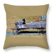 Antique Wagon Throw Pillow