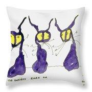 Anxiety Rules Ok Throw Pillow