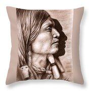 Apache Chief Throw Pillow