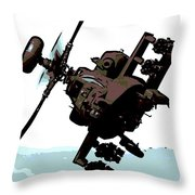 Apache Preparing To Attack Throw Pillow