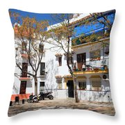 Apartment Houses In Marbella Throw Pillow