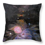 Aphrodite In Orion's Nebula Throw Pillow