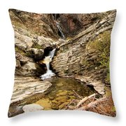 Apikuni Falls Throw Pillow