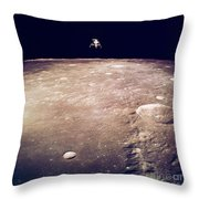 Apollo 12 Lunar Lander Throw Pillow