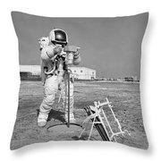 Apollo 13 Astronaut Walks Throw Pillow