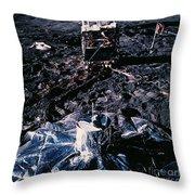 Apollo 14 Lunar Experiments Throw Pillow