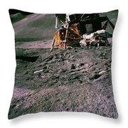 Apollo 15 Lunar Module Throw Pillow
