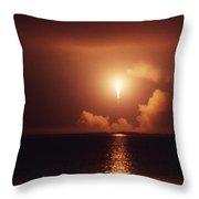 Apollo 17 Carrying The Fire Throw Pillow