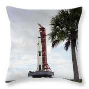 Apollo 4 And Its Mobile Launch Tower Throw Pillow