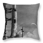 Apollo 8: Launch, 1968 Throw Pillow