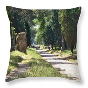 Appian Way In Rome Throw Pillow