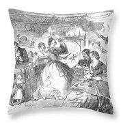 Apple Bee, 1859 Throw Pillow