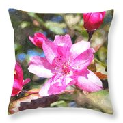Apple Blossom Abwc Throw Pillow