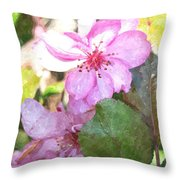 Apple Blossom II Ab2wc Throw Pillow