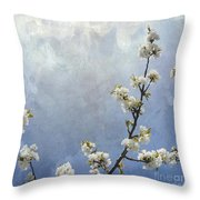 Apple Branch On A Textured Background Throw Pillow