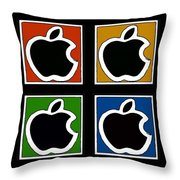 Apple Colors Throw Pillow